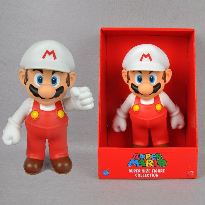 1X Grande PVC Super Mario Brothers Action Figure DR. Mario Cappello Bianco  9