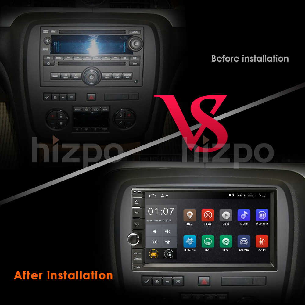 Hizpo 7'' Android Car Radio Stereo GPS Navigation Bluetooth USB SD 2 Din  Touch Car Multimedia Player Audio Player Autoradio WIFI