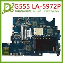 KEFU NAWA2 LA-5972P for lenovo G555 notebook G555 laptop motherboard NAWA2 LA-5972P mainboard with GPU Test original mothebroard цена и фото