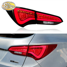 Car LED Tail Light Taillight For Hyundai Santa Fe IX45 2013-2018 Rear Running Light + Brake Light + Reverse Lamp + Turn Signal for hyundai santa fe ix45 2016 2017 sncn multi function car led rear bumper light auto brake light turn signal light reflector