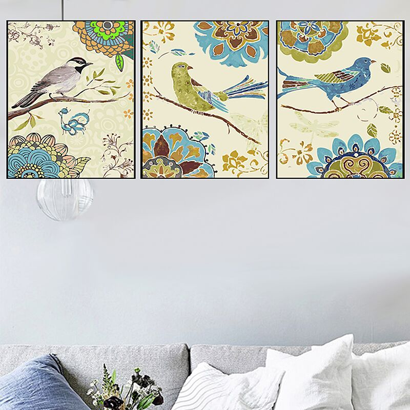 HTB1aPBsXo rK1Rjy0Fcq6zEvVXaG 3 pcs DIY Oil Painting by Numbers Flower Triptych Pictures Animal Coloring Landscape Abstract Paint Wall Sticker Home Decor Gift
