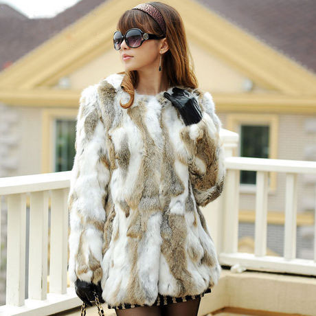 Online Buy Wholesale rabbit fur lined coats for women from China