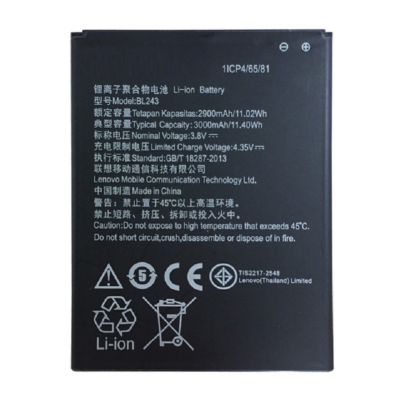 for <font><b>Lenovo</b></font> <font><b>K3</b></font> <font><b>Note</b></font> original <font><b>Battery</b></font> 2900mAh Li-ion <font><b>Battery</b></font> BL243 Replacement for <font><b>Lenovo</b></font> <font><b>K3</b></font> <font><b>Note</b></font> K50-T5 Smartphone image