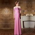 Coniefox 30863 Pink Vestidos dama de longas Strapless Wedding Party Floor Length Long New Bridesmaid Dresses