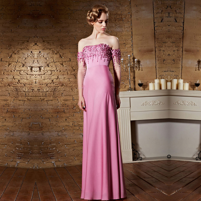 Coniefox 30863 Pink Vestidos dama de longas Strapless Wedding Party Floor Length Long New Bridesmaid Dresses