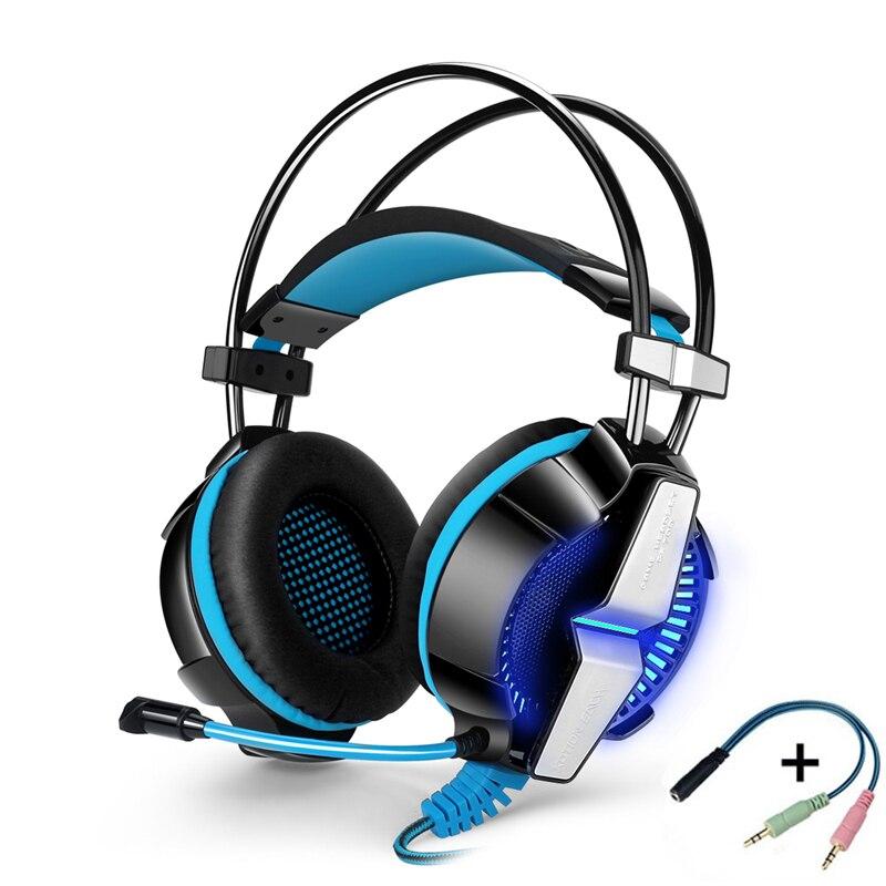KOTION chaque casque de jeu GS700 casque de jeu avec Microphone pour PS4 ordinateur tablette pc ordinateur portable téléphone mobile LED téléphone tête