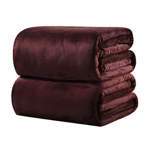Image 4 - CAMMITEVER 10 Colros супер теплое мягкое домашнее текстильное одеяло, одноцветные фланелевые одеяла, покрывала, простыни