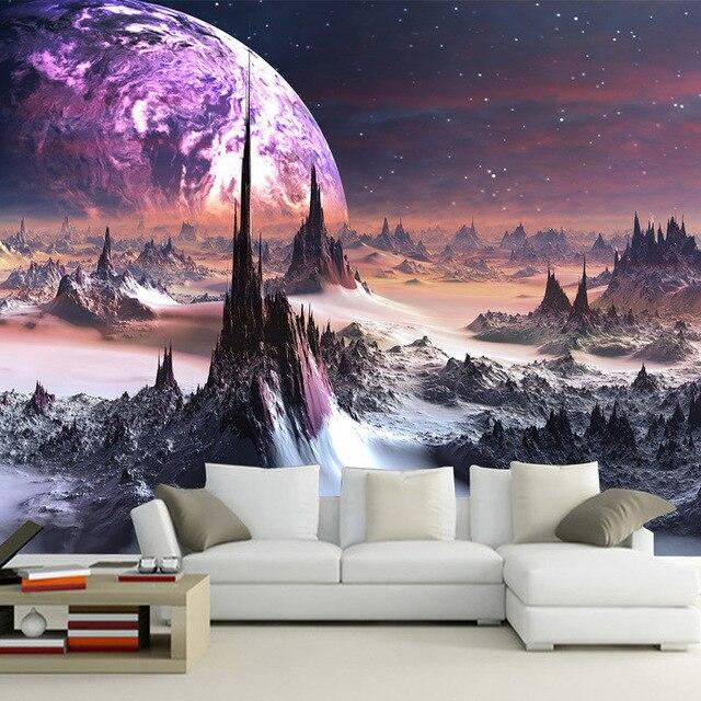 Aliexpress.com: Acheter Violet galaxy Papier Peint 3D Photo Papier ...