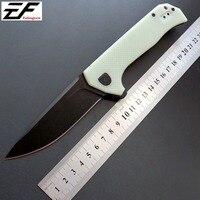 Efeng ZT 0804 Ball Bearing Folding Knife Steel G10 Titanium Plating Handle 204P Tactical Survival Knife