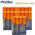 20 PCS PKCELL 1.5 V 4A MN2500 E96 AAAA LR61 Pilha Alcalina Da Bateria Seca & Baterias Bateria Primária para stylus caneta controle remoto