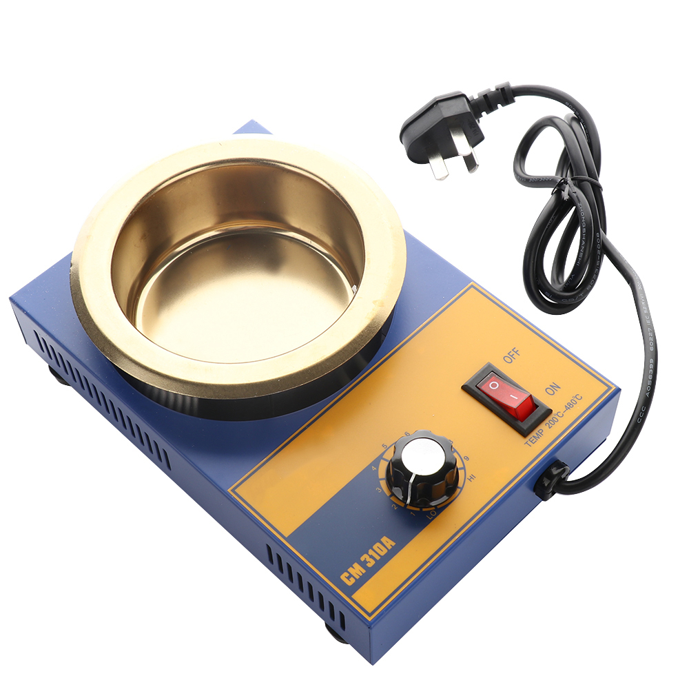 220v 300w Solder Furnace Melting Soldering Pot For Iron Solder Cm-310a Small Manual Adjustment Melting Round Soldering Furnace