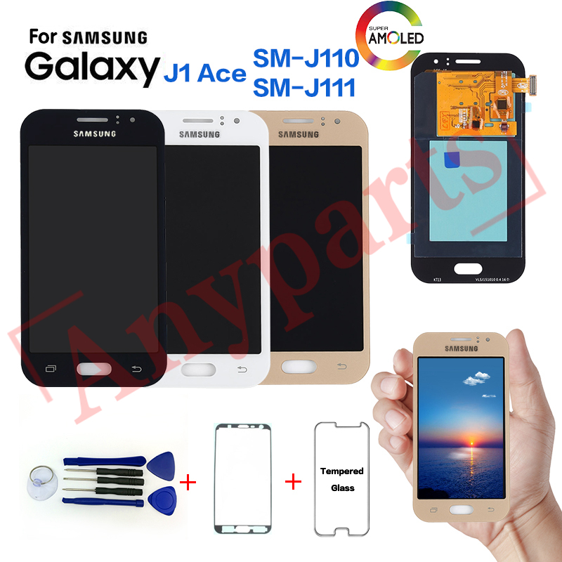 AMOLED For Samsung Galaxy J1 Ace SM J110F Display lcd Screen replacement for SAMSUNG SM J110G J110H J110L J110M J111F J111M lcd
