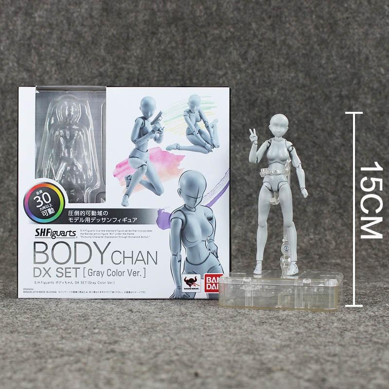 2 Style Body Chan Pale Gray Color 14cm Figma Bandai SHF Ferrite PVC Action Figure Figma (14)