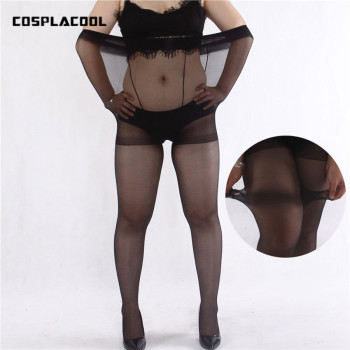 [COSPLACOOL] Summer women tights Sexy ultra-thin Superelasticity fat big size stockings pantyhose women anti-hook wire 100kg