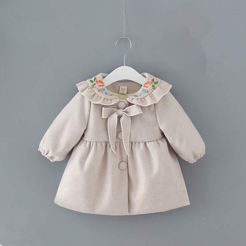 Girls Coats England Style Winter New Years Thick Baby Girl Jackets Kid Coats Cotton Bow-Knot Embroidery Girl Jackets and Coats lc1d series contactor lc1d25 lc1d25bdc 24v lc1d25cdc 36v lc1d25ddc 96v lc1d25edc 48v lc1d25fdc 110v lc1d25gdc lc1d25jdc 12v dc