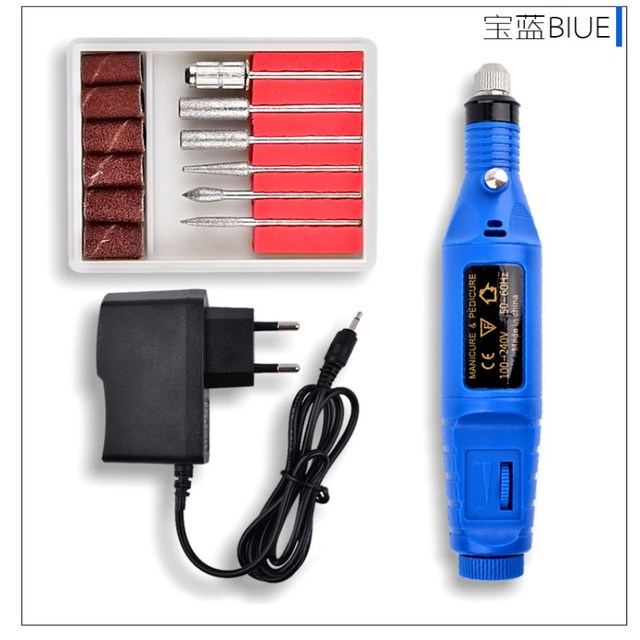 1pc Mini Stainless Steel Nail Art Drill Set Electric Manicure Nail ...