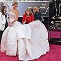 Selena Gomez Ariana grande Ocsar Jennifer Lawrence Vestido Moda Strapless Fora Do Ombro A-line Vestidos de Celebridades Elegantes