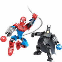 2 teile/los Superhero Marvel Avengers Iron Man Spider Man Bausteine Action Sets Modell Bricks Spielzeug Für Kinder