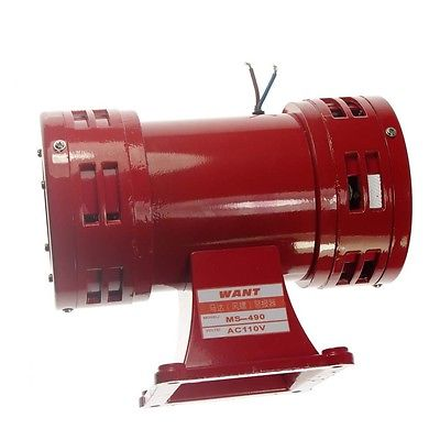 AC110V 150db Motor Driven Air Raid Siren Metal Horn Double Industry Boat Alarm driven to distraction