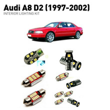 Led interior lights For Audi a8 d2 1997-2002  20pc Led Lights For Cars lighting kit automotive bulbs Canbus led interior lights for saab 9 5 1998 2009 20pc led lights for cars lighting kit automotive bulbs canbus