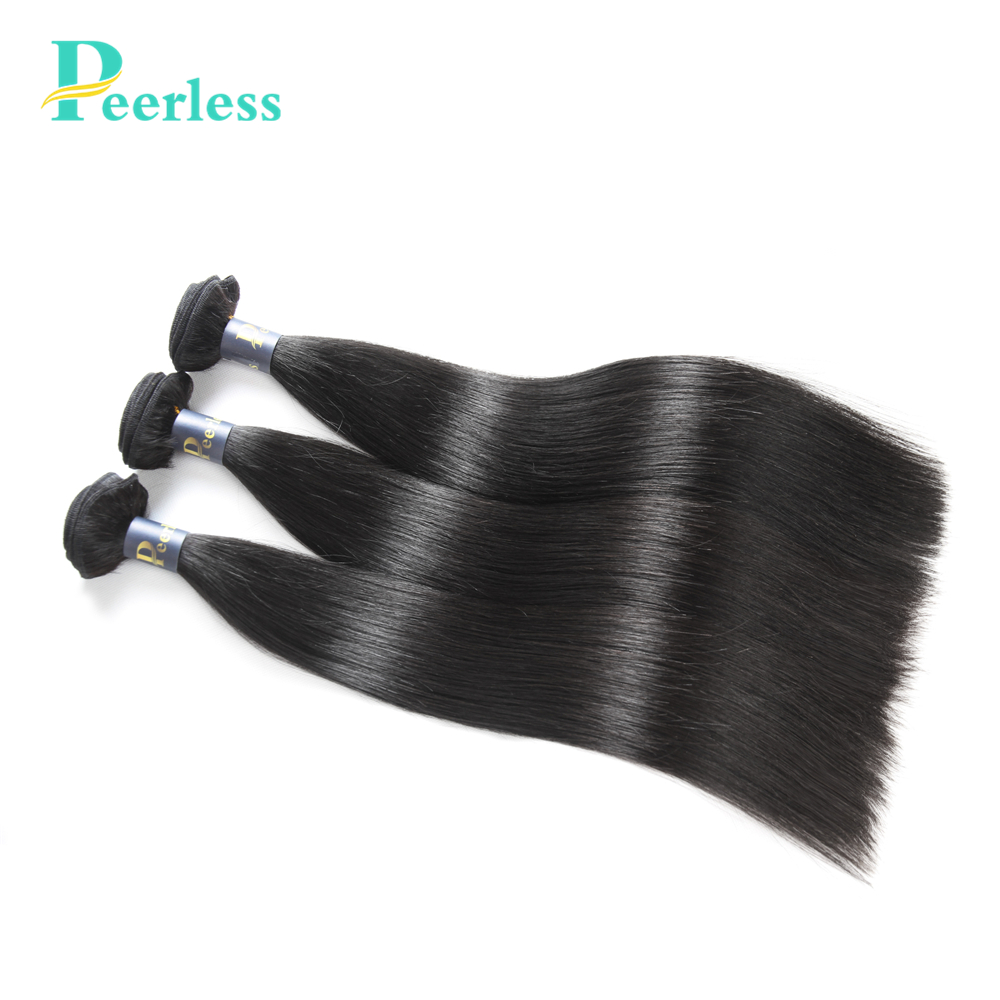 PEERLESS Weave Virgin-Hair Straight-Bundles 100%Human-Hair-Extensions Peruvian 10A Raw