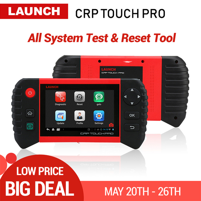 Launch CRP Touch Pro Full System Diagnostic Tool OBD2 Car Scanner WiFi Auto Code Reader Oil EPB SAS BMS Reset 1 Year Free Update