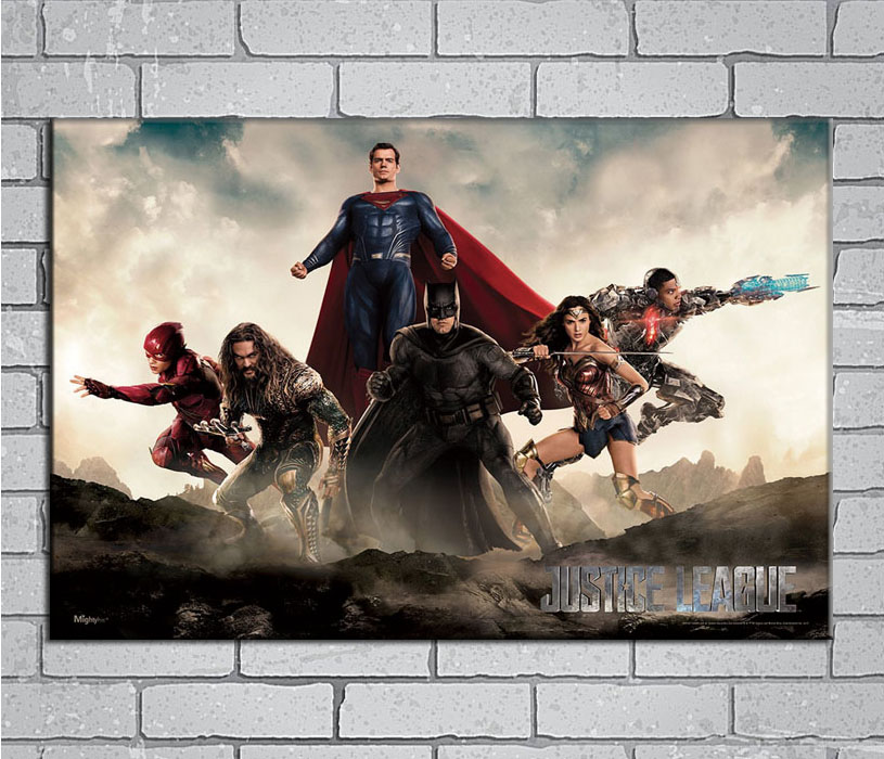 Batman JUSTICE LEAGUE New Superheroes Movie Poster 12x18 24x36 inch