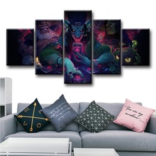5 Piece Fantasy Art HD Pictures Hearthstone Rise of Shadows Video Game Poster Artwork Canvas Paintings Wall for Home Decor