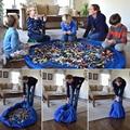 Saco De Armazenamento portátil Toy Kids Crianças Esteira Do Jogo Do Bebê Grande Sacos de armazenamento Brinquedos Organizador Boxes Blanket Tapete para Brinquedos Lego 42/140 cm