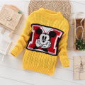 Girls Baby Sweater 2017 Casual Autumn Kids Clothes Knitwear Embroidery Knitted Girls Sweater