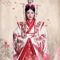 TV Juego Príncipe Chong Jin Er Predicar de Chino Tradicional Traje Rojo de La Boda para La Novia y el Novio Bordado Delicado Traje