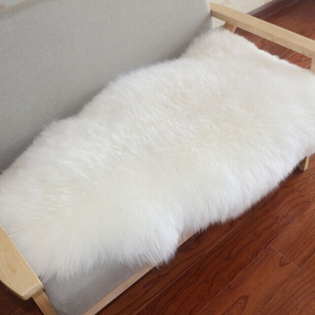 Faux Fur Chair Cover Frank Gehry Muzzi Sheepskin Seat Pad Soft Carpet Hairy Plain Skin Fluffy Area Rugs Bedroom Mat001