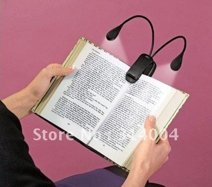 HOT!! New 1pcs LED Book Light Reading Lamp Kindle Nook Music Stand Clip Light