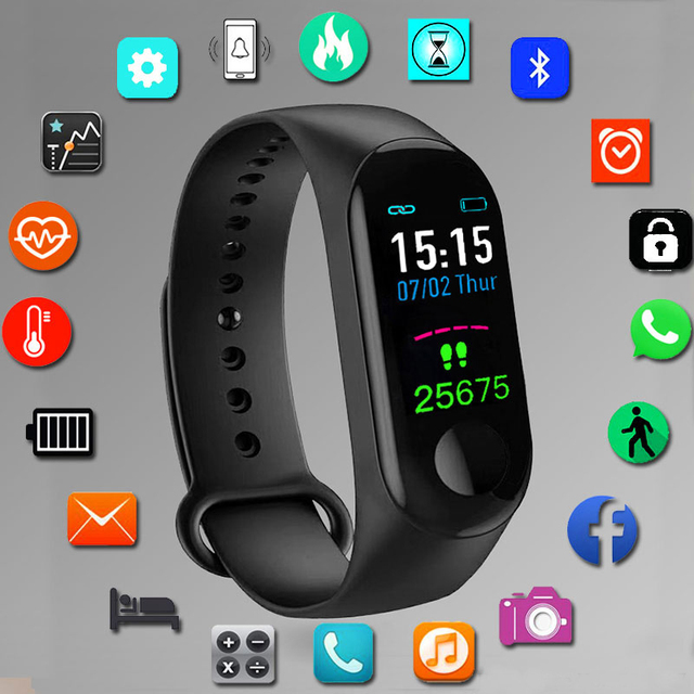 New Fashion Smart Watch Men Watches Sport Digital LED Electronic Wrist Watch For Men Clock Male Wristwatches Relogio Masculino