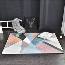 Nordic Bedroom Geometric Striped Carpet M Reason73 Ru