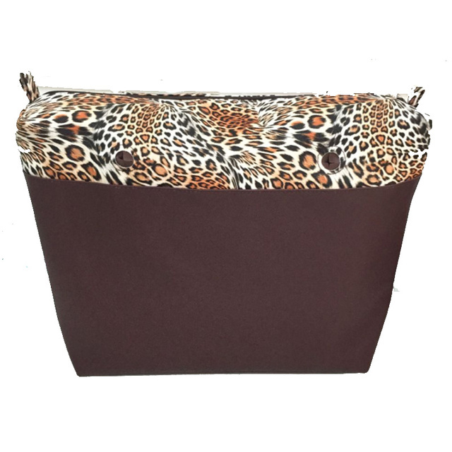 leopard print pu inserts inner bag for obag new style