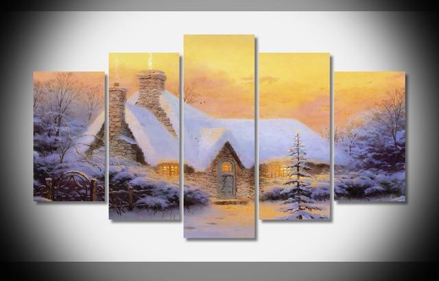 9895 Thomas Kinkade Canvas Painting Modern Modular Picture Canvas