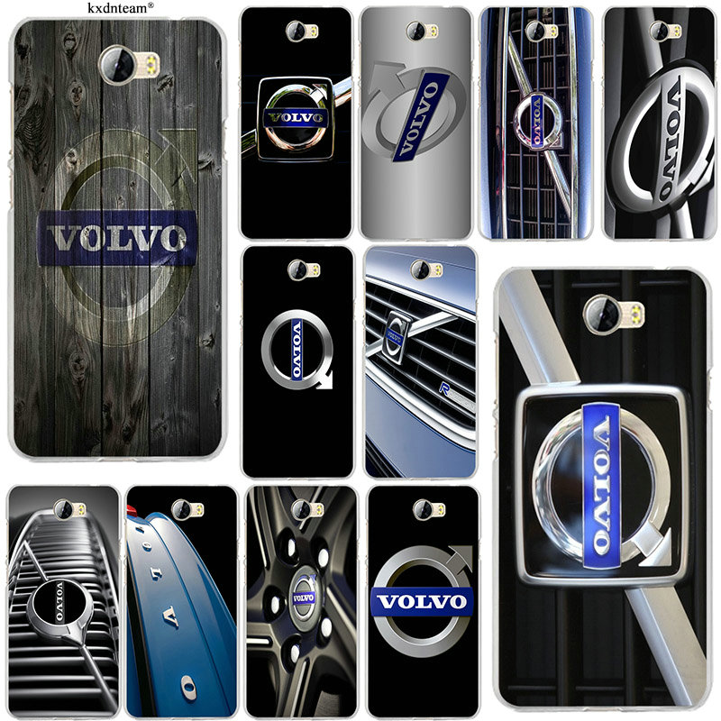 Volvo Car Auto Grill Phone Case for Huawei P8 P9 P10 Lite Mate 10 Pro Y5 Y6 Y3 II Y7 Honor 6X 7X 9 Lite Shell Soft Silicone TPU