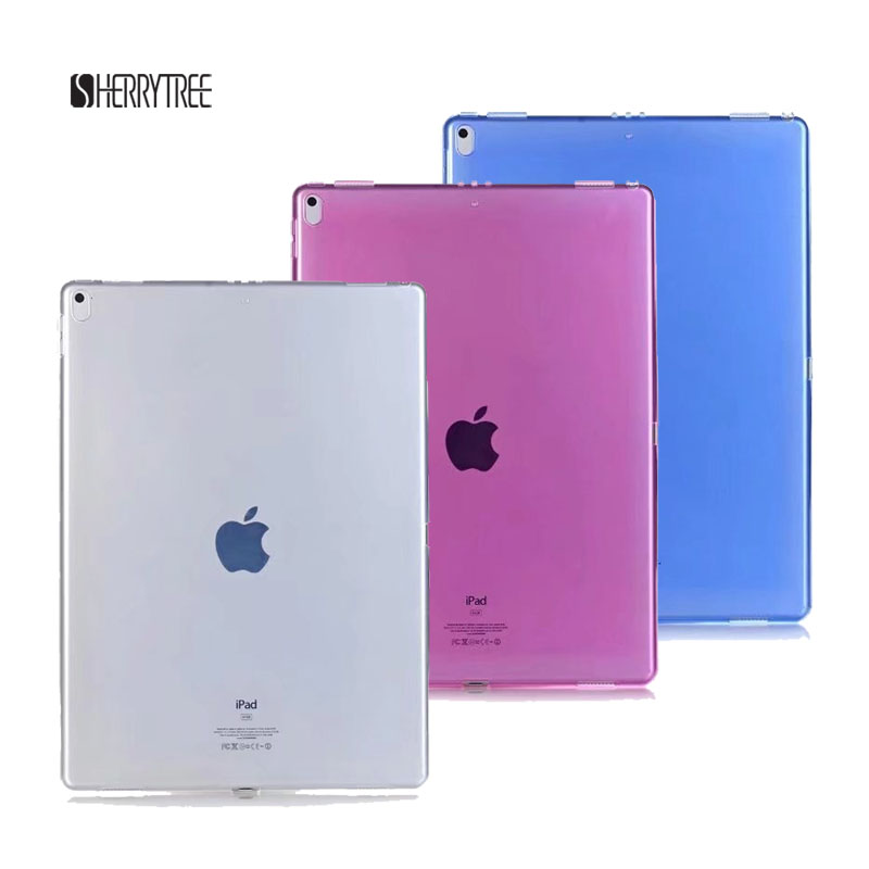50PCS/Lot Transparent Back Cover Soft TPU Case For New iPad Pro 12.9 2017 Protective Skin