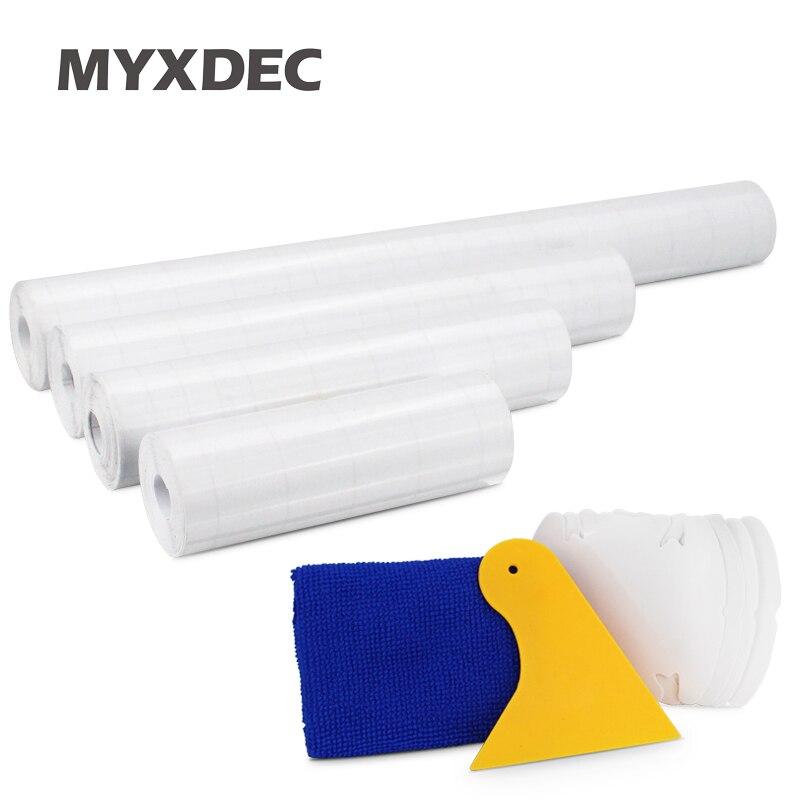 10cm/15cm/20/30cm x 5M Rhino 스킨 스티커 자동차 범퍼 후드 페인트 보호 필름 PVC 비닐 투명 투명 필름 두께