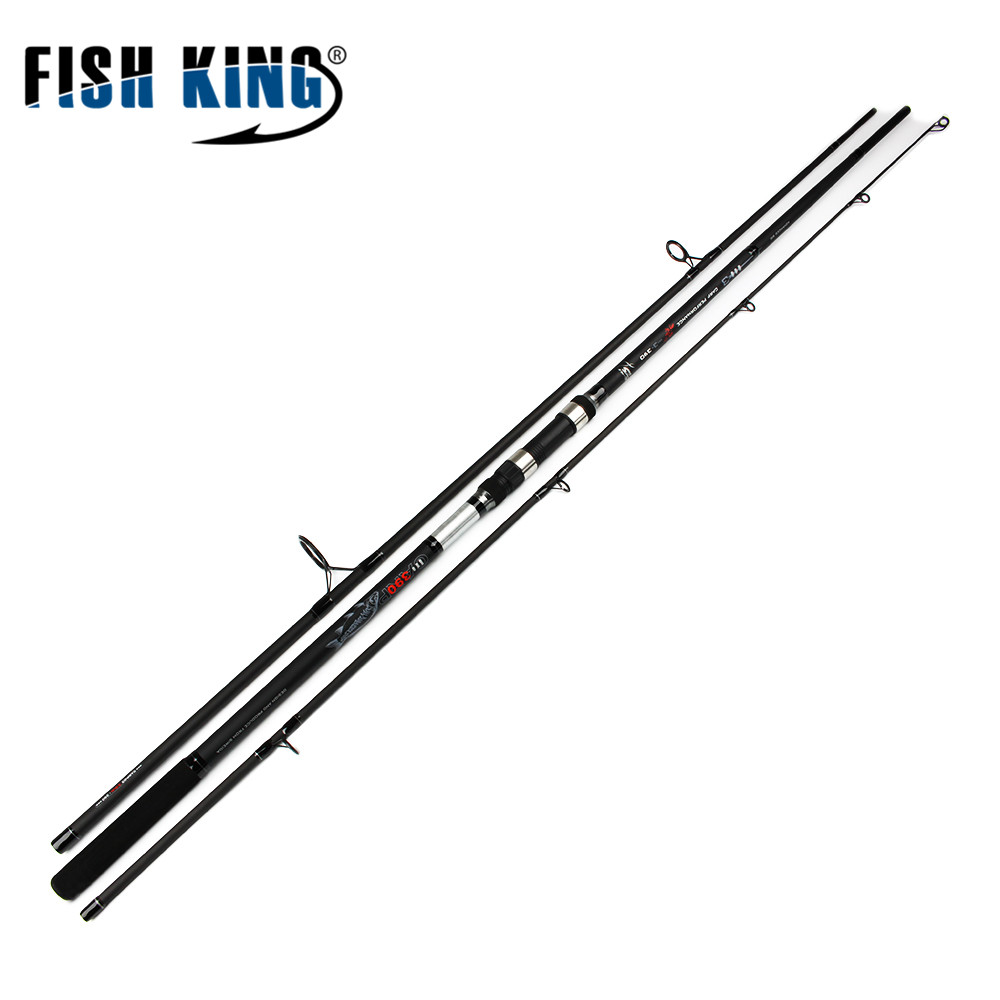FISH KING Carp Fishing Rod C.W 3.5LBS 3 SECS Contraction length 128cm 138cm High Carbon Carp Rod For Lure Fishing