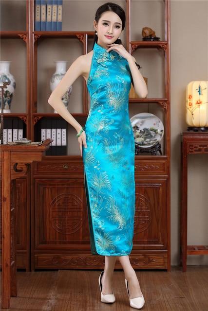 ac4e5078e1574f Shanghai Story chinese traditional Dress cheongsam qipao Halter Qipao dress  backless chinese Long dress 3 Color