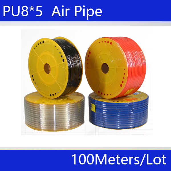 PU tube 8*5mm air pipe to air compressor pneumatic component red 100m/roll pu6 4 200m roll pu tube 6 4mm air pipe air hose air duct fittings air pipe to air compressor pneumatic component red