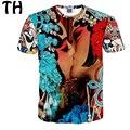 2016 Плюс Размер XXL Оперы Маска Лето Топы Harajuku Старинные повседневная Футболка Женщины Мужчины Футболку Camisetas Mujer Femme #161184
