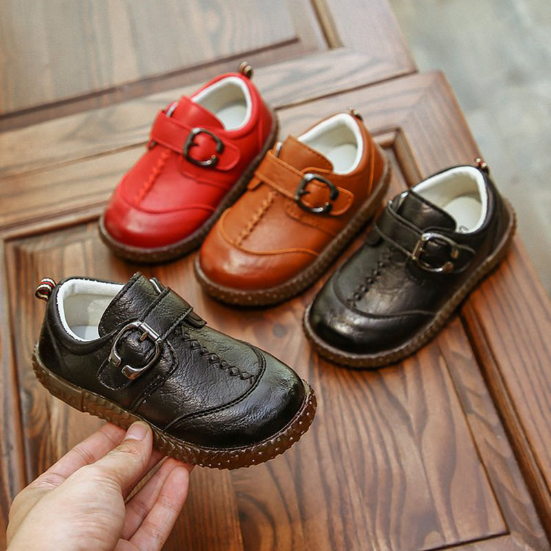 35483acd2054 Kids Toddler Baby Little Boys Flats Brown Black Red England Leather Shoes  For Boys School Shoes 1 2 3 4 5 6 7 Years Old New 30