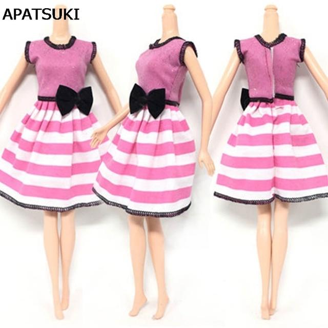 Casual wear moda ropa para Barbie Muñecas princesa Rosa negro ...