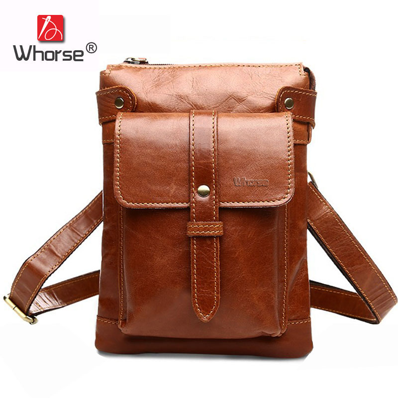 [WHORSE] Brand Vintage Casual Genuine Leather Men Messenger Bags Small Flap Men's Natural Cowhide Shoulder Crossbody Bag W87110 neweekend genuine leather bag men bags shoulder crossbody bags messenger small flap casual handbags male leather bag new 5867