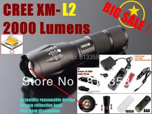 100%AUTHENTIC E17 CREE XM-L2 LED 3800LM CREE led flashlight torch light +1x 18650 Battery charger/car charger/flashlight holster