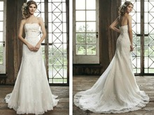 free shipping 2013 Bridal Dress maxi formal Gown plus size sheer high strapless sweetheart Strapless Lace Wedding Dresses