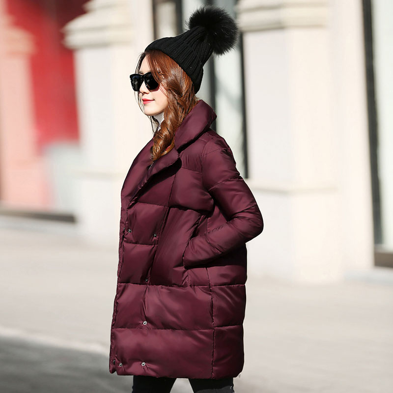 HRM Ms. Down 2017 winter new long section of cocoon thin white duck down jacket coat tide siemens wm 14w540